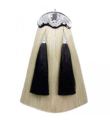 White w/ Black Horse Hair Sporran
